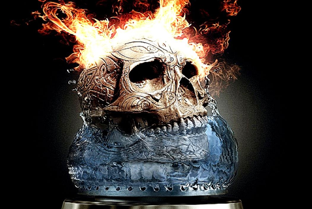 Download Fire Skull Animated