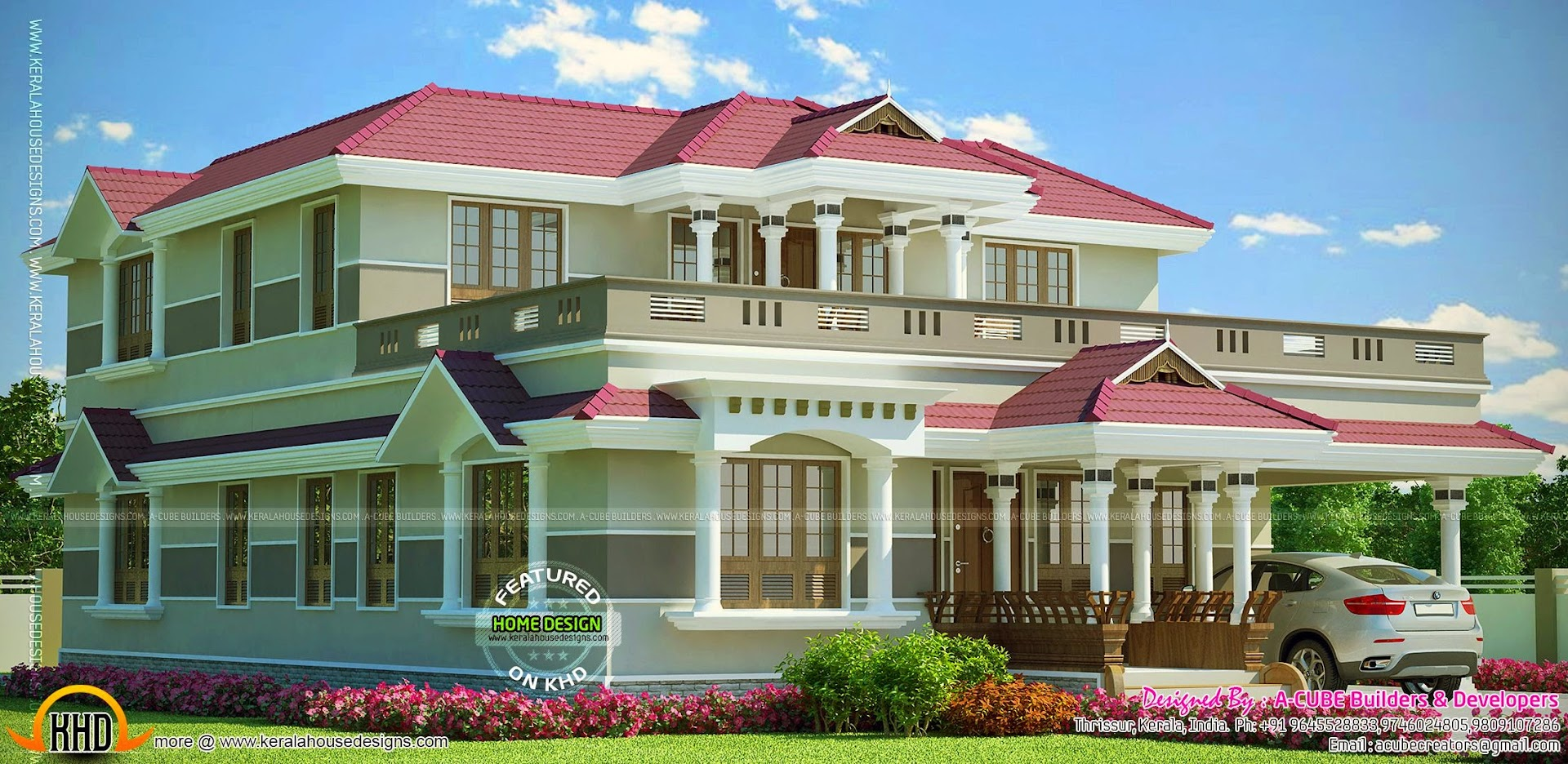 Grand Kerala home design. November 2014   Kerala home design and floor plans