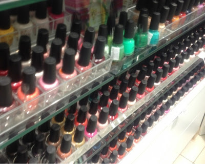 Different Orly nail polish