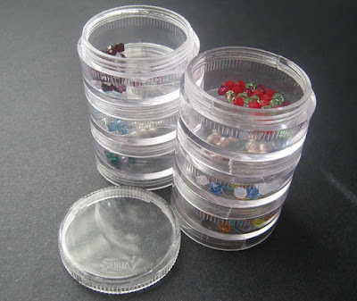 Space Saver Bead Storage Jars with Swarovski Birthstones