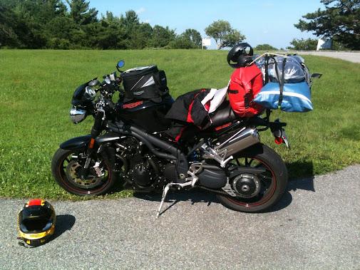 Sport Touringnet Bags On A Speed Triple
