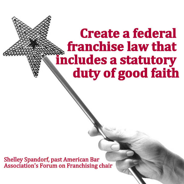 Attorney Spandorf presents to American Bar Association that statutory law of good faith is needed