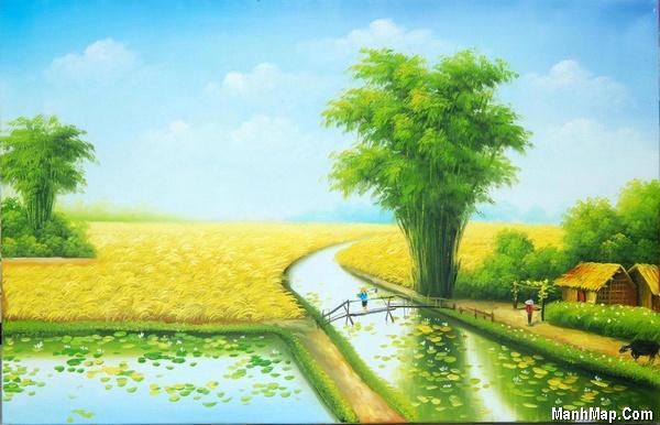 thơ lục bát miêu tả cảnh làng quê