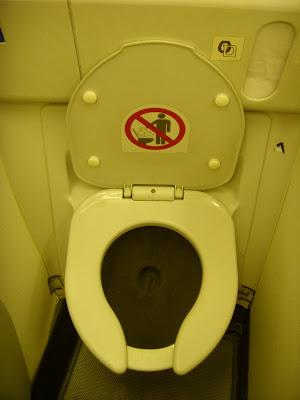 機内のトイレ