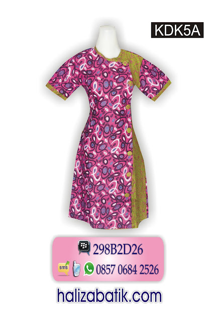 grosir batik pekalongan, Baju Dress, Dress Batik Modern, Dress Modern, KDK5A