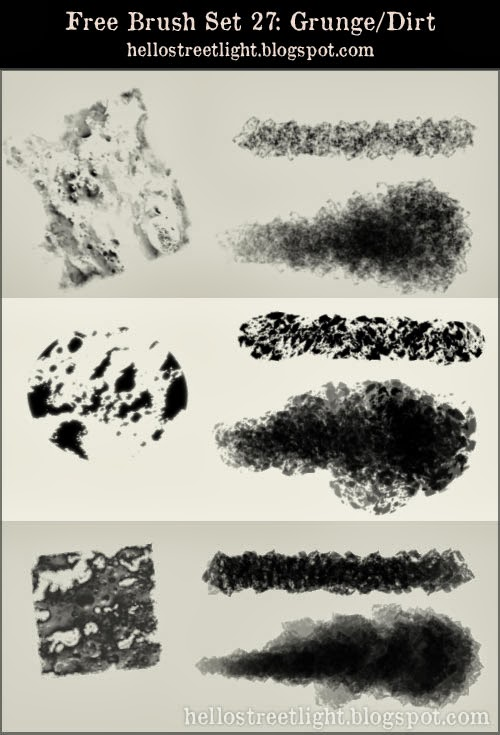 Free Photoshop Grunge Brushes