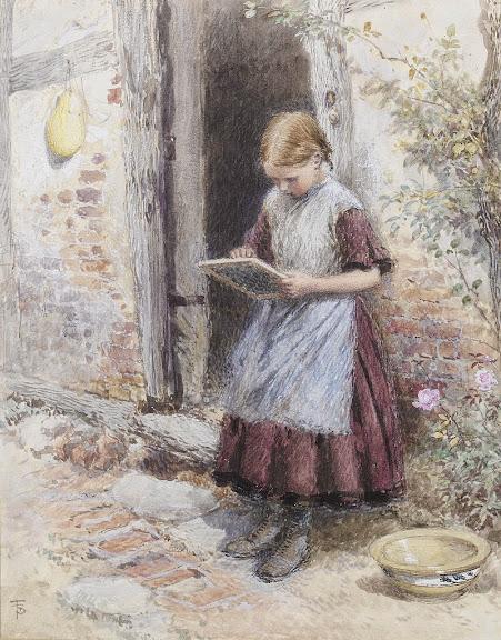 Myles Birket Foster - A school girl