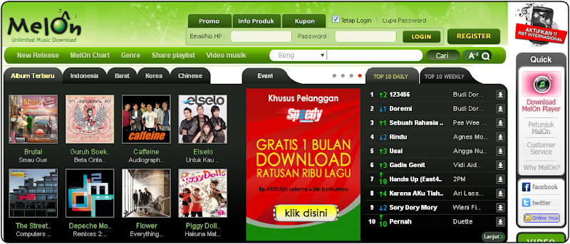 MelOn - Download dan Streaming Lagu