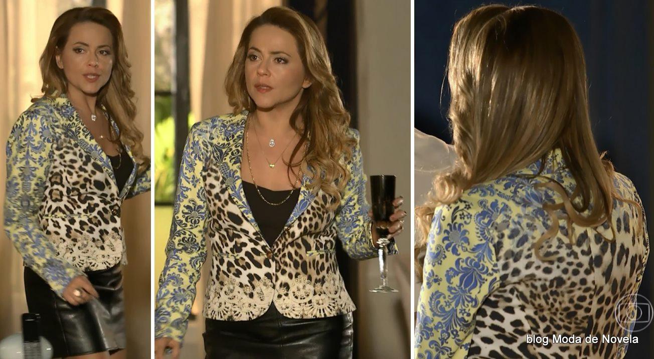 moda da novela Em Família - look da Shirley dia 9 de junho