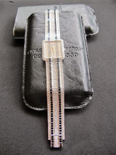 Bán đồng hồ Piaget Nữ – dây kim cương – Vàng trắng – Xài Pin