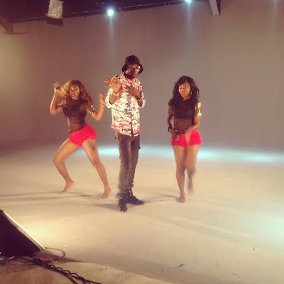 "Photos from behind the scenes of May D ""IBADI'' musical video"