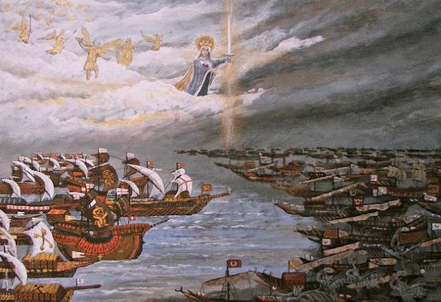 Batalla de Lepanto - Mural de Tony Stafki