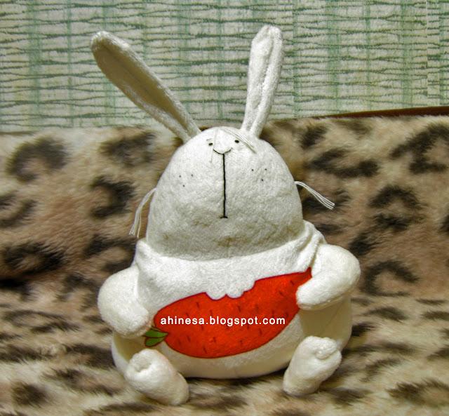 заяц и морковка, игрушка
