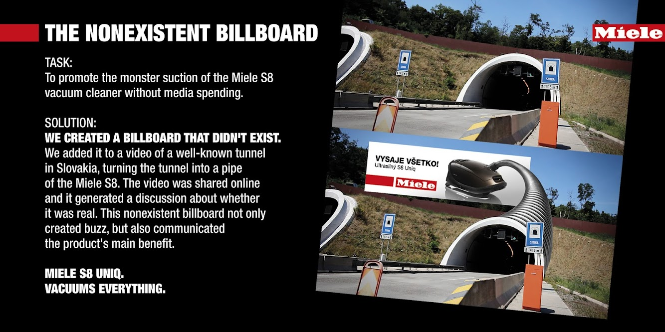 A Miele Vacuum Billboard Tunnel That Wasn't Really There
