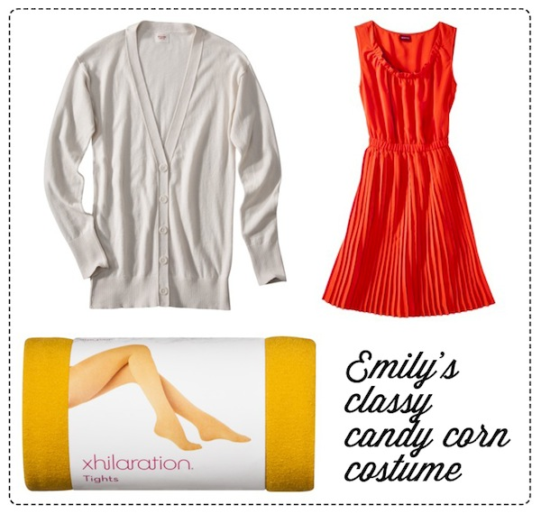 every day candy corn costume with items from Target inspired by Fred Flare