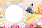Flores e Borboleta