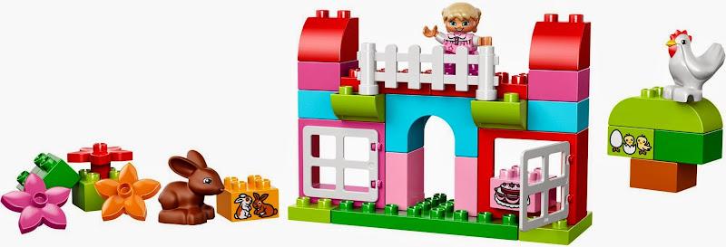Thành phần có trong bộ Lego 10571 Thùng gạch hồng Duplo vui nhộn