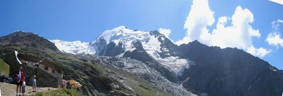 La vetta del Monte Bianco vista dal Nid d'Aigle