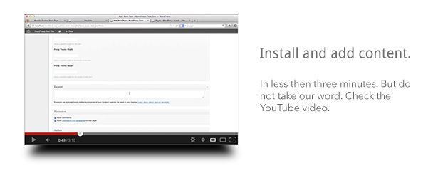 Install and Add Content in Less Then Three Minutes