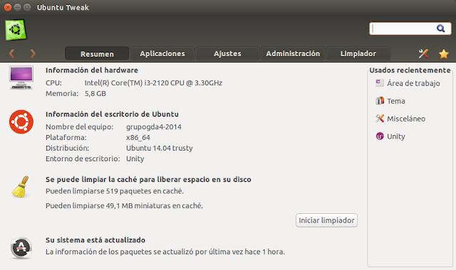 Nueva versión de Ubuntu Tweak con compatibilidad para Ubuntu 14.04