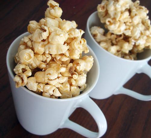 Ooey gooey caramel popcorn