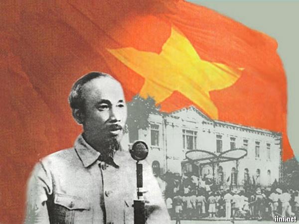 thơ ảnh Bác Hồ đọc tuyên ngôn độc lập