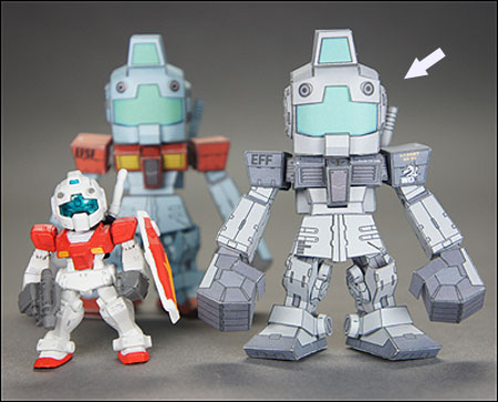 SD RGM79 White Dingo Gundam Papercraft