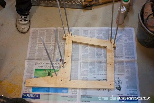 Подготовка к набору матрицы для изготовления стула