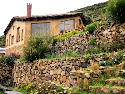 Ecolodge La Estancia hotel on the Isla del Sol on Lake Titicaca in Bolivia
