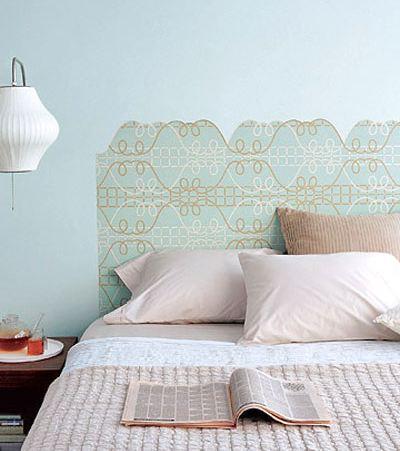 6 cabeceros de cama que puedes hacer t somosdeco blog - Cabeceros de papel pintado ...
