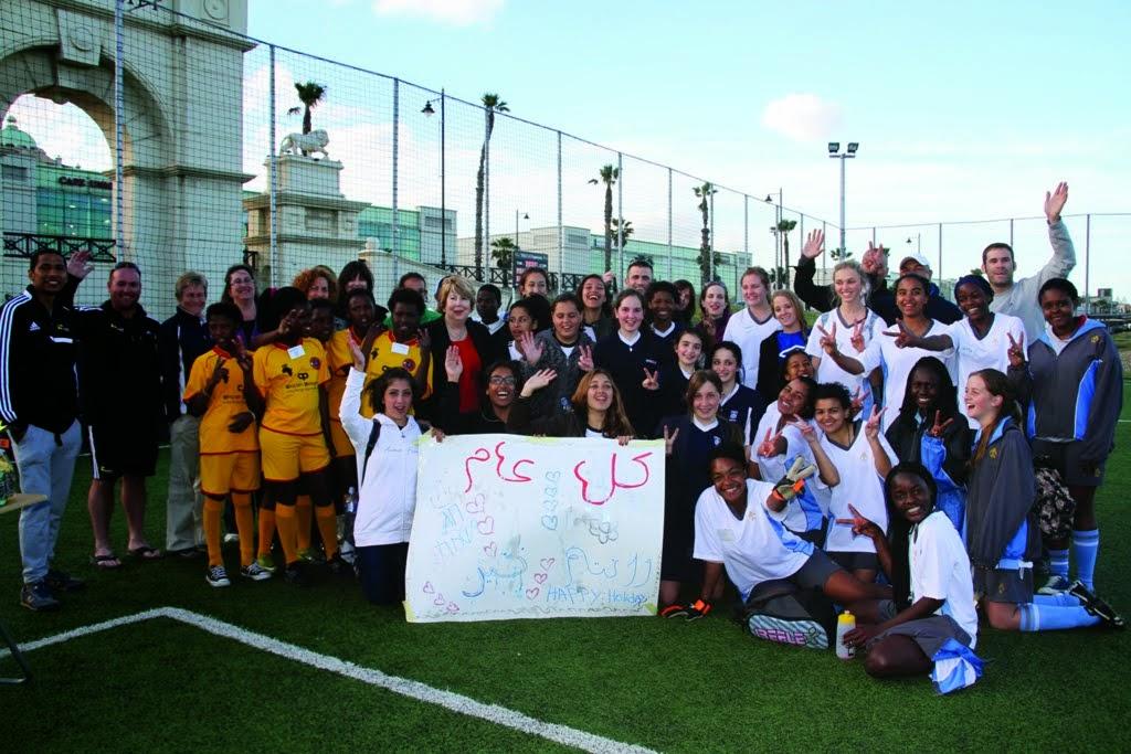 Partnership2Gether Coexistence Soccer Delegation