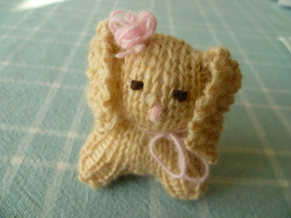 knitting pattern small rabbit