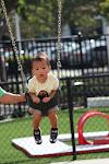 LePort Montessori Preschool Toddler Program Irvine Spectrum - boy on the swing