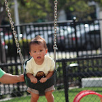 LePort Montessori Preschool Toddler Program Irvine Spectrum - boy on the swing