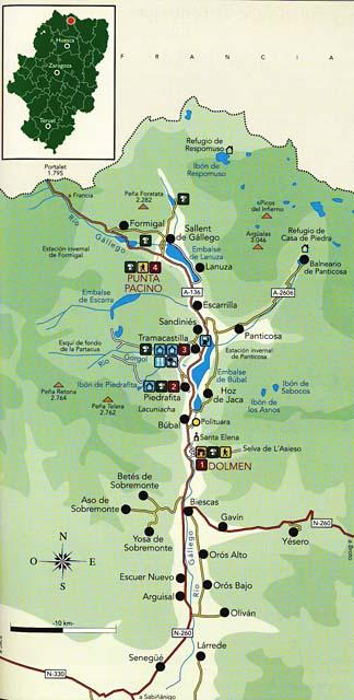 Valle De Tena Mapa.Por El Valle De Tena Setas Y Sitios