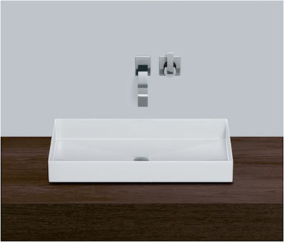 Lavabo rectangular.