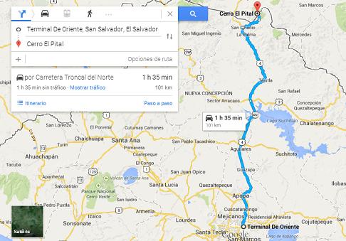 ¿Cómo llegar al Cerro El Pital desde San Salvador?