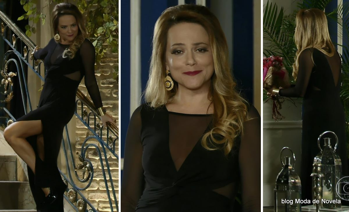 look da Shirley na novela Em Família