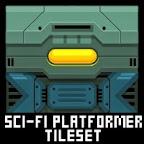 Sci-fi platformer game tileset