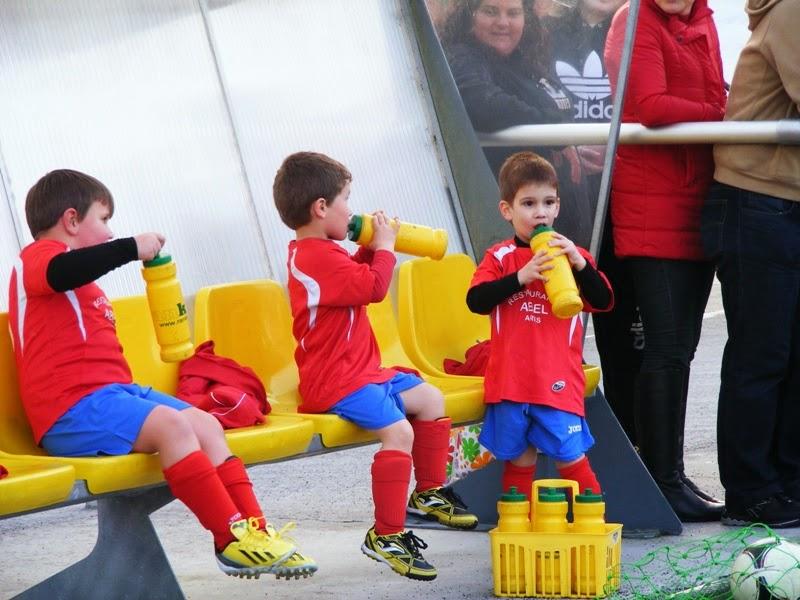 Xogadores biberóns do Numancia de Ares (14/03/2014)