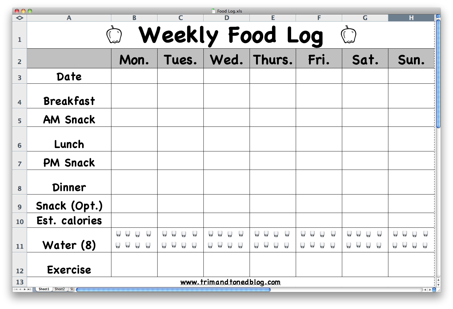 Food Log | Search Results | Calendar 2015