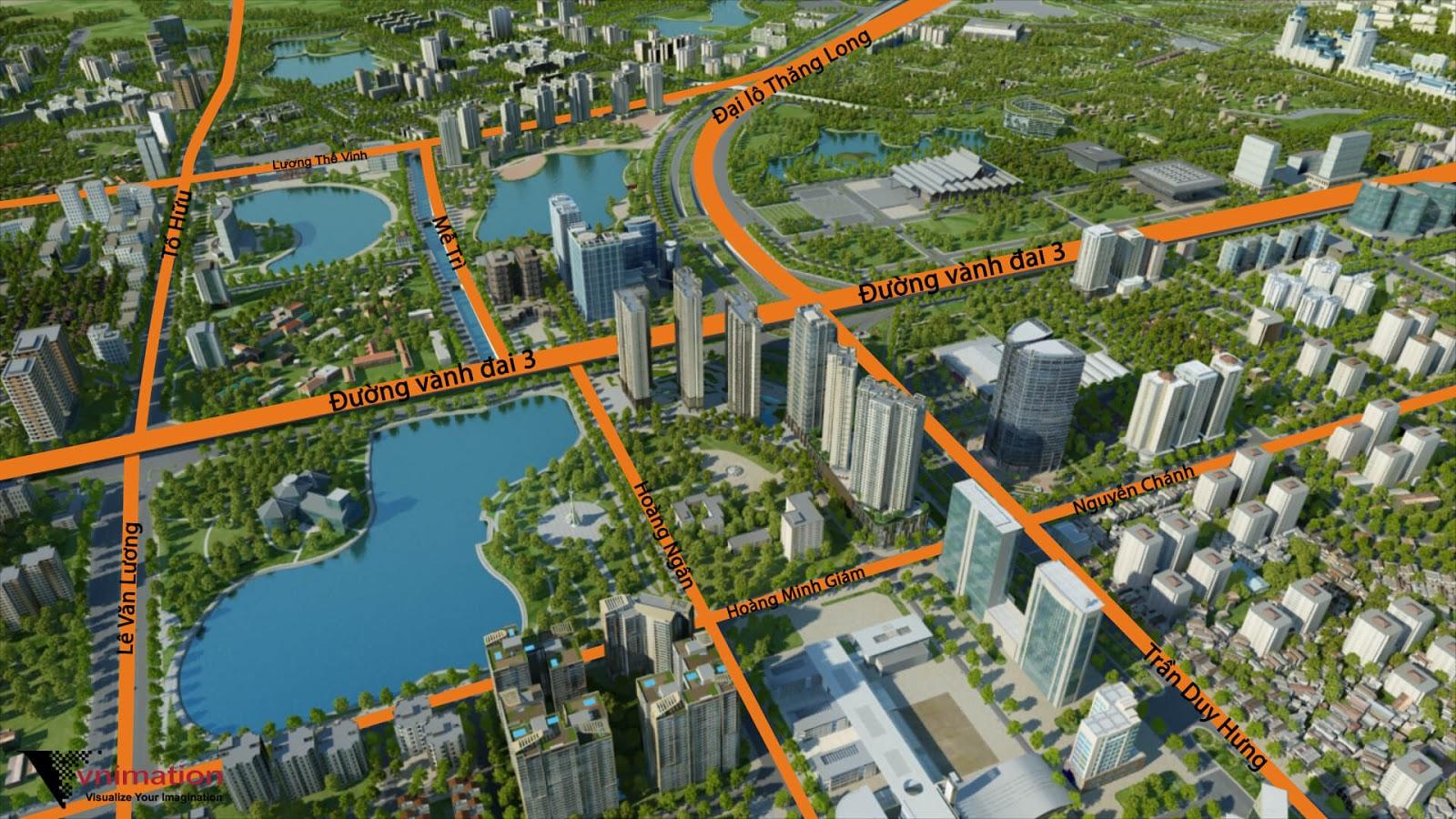 Vị trí dự án chung cư D'Capitale Trần Duy Hưng