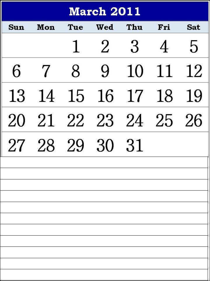 free calendars. free calendars march 2011.