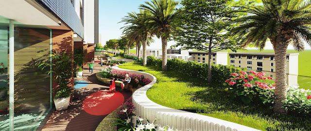 Khuôn viên xanh Palm Garden