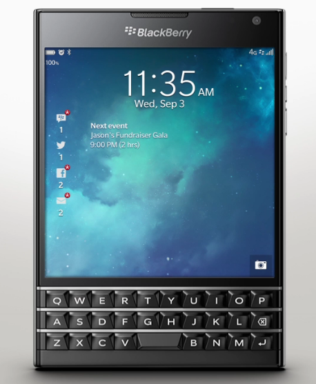 Image of BlackBerry Passport Phone Great Specs With Coolest BBP Design Ever