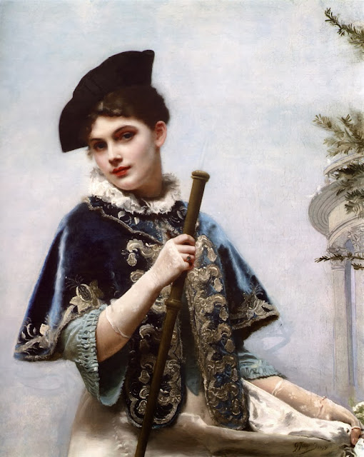 Gustave Jean Jacquet - A Portrait of a Noble Lady