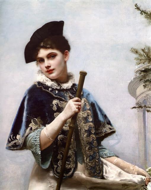 Gustave Jean Jacquet - A Portrait of a Noble Lady