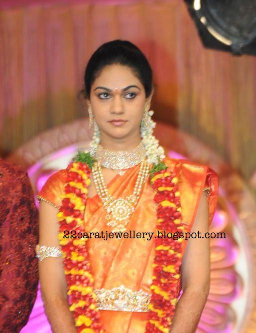 Snehareddy Diamond jewellery At Her Wedding Reception Party ...