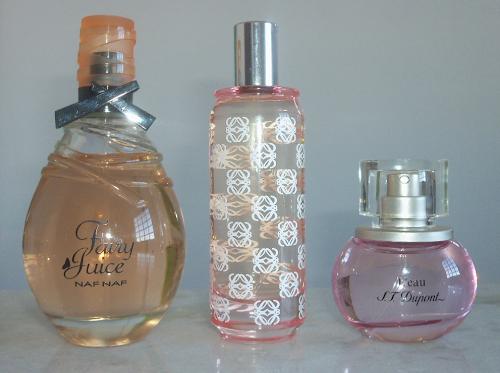 Perfumes femininos importados do sorteio