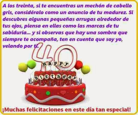 Felicitaciones Por Tus 40º Cumpleaños